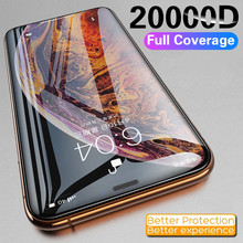 20000D Full Cover Glass on the For iPhone X XS Max XR 12 Tempered Glass For iPhone 11 12 Pro Max X XR XS MAX Screen Protector