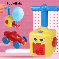 Kids Physical Inertial Power Balloon Toys Car Science Experiment Toy Puzzle Car Balloon Children Early Educational Gift Kit