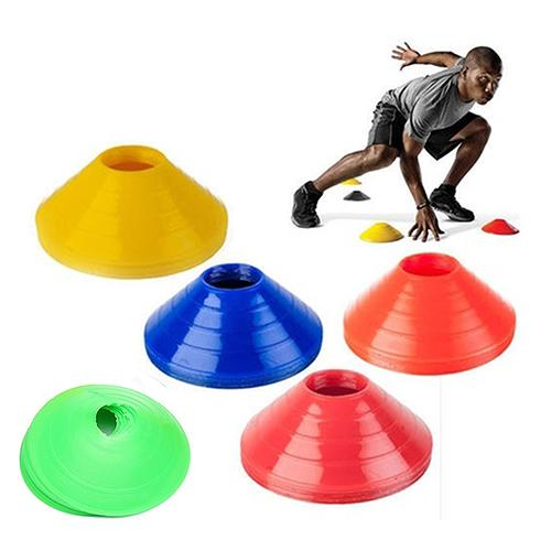 10Pcs High Quality Soccer Training Sign Dish Pressure Resistant Cones Marker Discs Marker Bucket PVC Sports Accessories