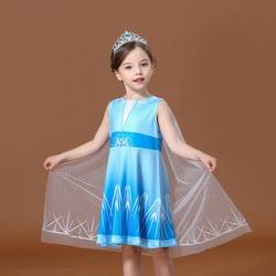 Frozen 2 Elsa Costume Baby Girls Princess Dress Carnival Costume disfraz frozen Girls Dress for Kids Party Dress Fancy Vestidos