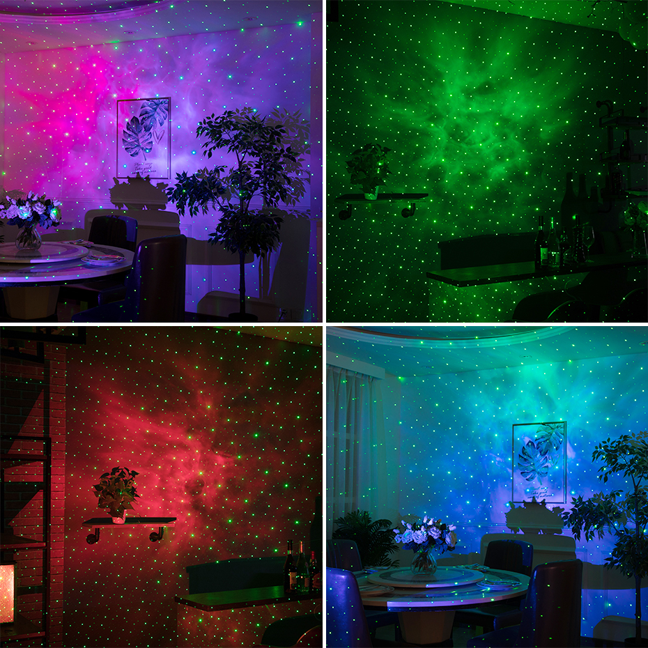 ALIEN Remote Star Galaxy Laser Projector Starry Sky Stage Lighting Effect Bedrooms Kids Room Party Night Holiday Wedding Lights 5