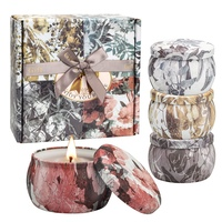 Aromatherapy Candles Kit Natural Soy Wax Smokeless Scented Candles Travel Tin Candles