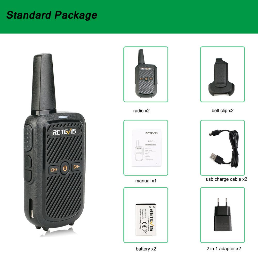 Image 5 - 2pcs Retevis RT15 Mini Walkie Talkie Portable Two Way Radio Station UHF VOX USB Charging Transceiver Communicator Walkie Talkie-in Walkie Talkie from Cellphones & Telecommunications