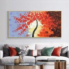 3d abstrata flor árvore grosso paleta faca pinturas 100% pintados à mão pintura a óleo na lona arte da parede para a decoração casa