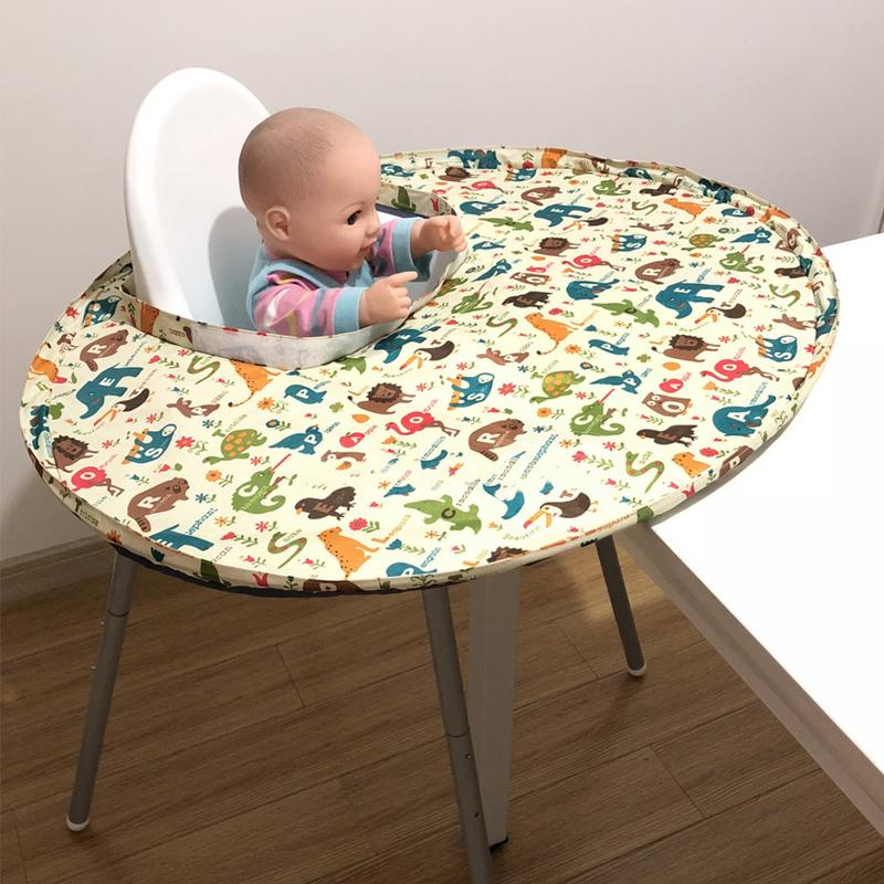 Foldable Kids Feeding Bib Dining Chair Cover Portable Eating Mats Dining Chair Tray Anti-food Drop Baby Care