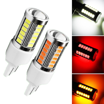 1 Piece T20 7440 7443 White Red Yellow Led Light 33SMD LED 5630 LED Backup Reserve Fog Light Brake Bulb Lamp 12V image