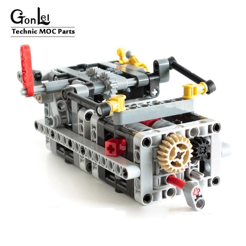 Новые MOC запчасти, техника, 8 скоростей, последовательная коробка передач, Обучающие строительные блоки, кирпичи, DIY игрушки, совместимые с 6829 TECHNIC|Блочные конструкторы| | АлиЭкспресс