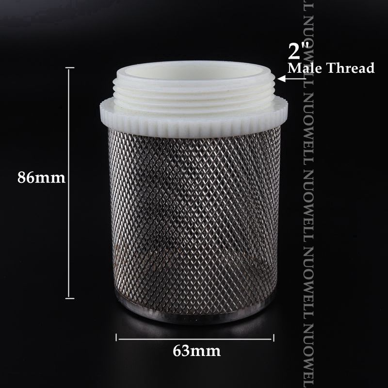 H2c4cf74f17a5462ba2cdc15d1eea0aedW 2pcs SS304 Net Filter Garden Micro Irrigation Water Pump Protect Hose Mesh Filter Water Clean Screen Durable Mesh Filters