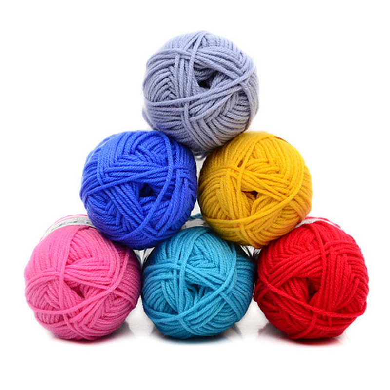 Hot 50g/pc DIY Soft Milk Cotton Wool Baby Wool Yarn For Knitting Hand Knitted Blanket Sweater Scarf Doll Crochet Wool Gift