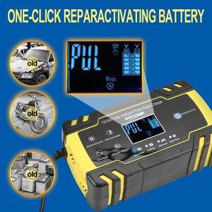 Image 5 - Auto Batterij Oplader Power 12V 24V 8A Volledige Automatische Puls Reparatie Laders Nat Droog Lood zuur Batterij Opladers Digitale Lcd Display
