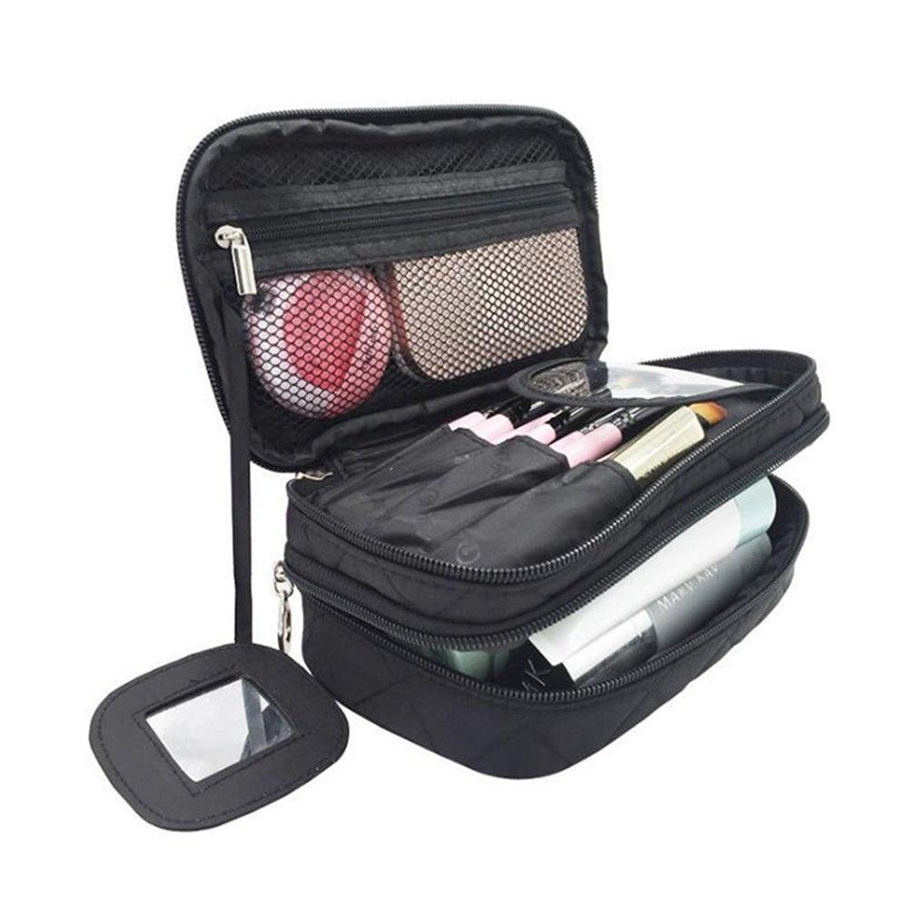 Drawstring Shrink Cosmetic Bag Women Travel Organizer Lazy Makeup Case Pouch Beauty Vanity Toiletry Kit Tool Storage Bag