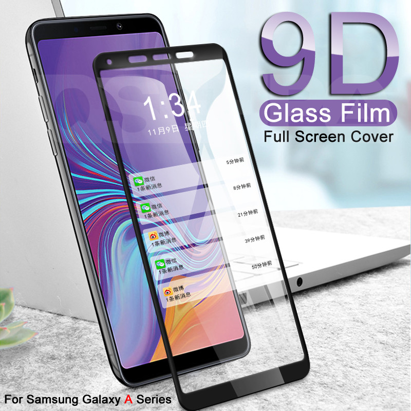 9D Tempered Glass On The For Samsung Galaxy A3 A5 A7 2016 2017 A6 A8 Plus A9 2018 Screen Protector Safety Protective Glass Film