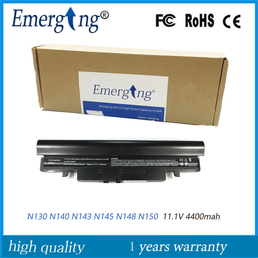 11.1V 4400mah New Laptop <font><b>Battery</b></font> for <font><b>Samsung</b></font> N130 N140 N143 N145 N148 <font><b>N150</b></font> image