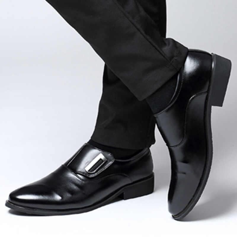 2019 New Flat Heel Men Boots Pu Formal