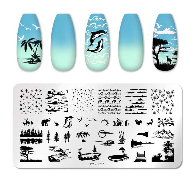 PICT YOU 12*6cm Nail Art Templates Stamping Plate Design Flower Animal Glass Temperature Lace Stamp Templates Plates Image 67