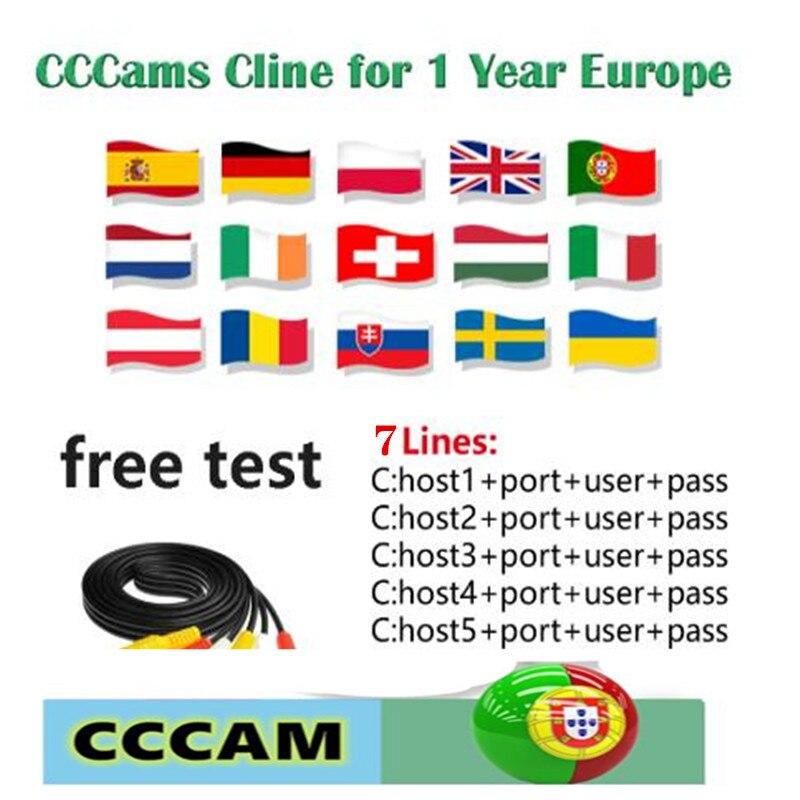 Beste CCCams Cline Voor 1 Jaar Europa Spanje Duitsland Polen Oostenrijk UK Frankrijk Astra Satelliet TV 8 Lijnen Freesat V7 CCCa