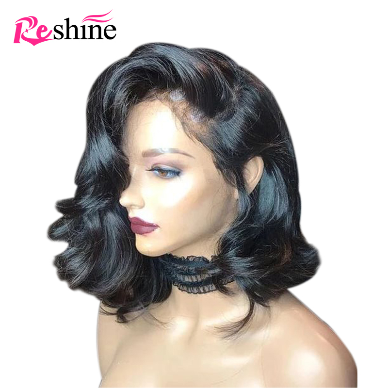 Brazilian Short Bob Body Wave Transparent Lace Wigs 13x4inch Human Hair Wig Remy Lace Front Wigs Pre Plucked With Baby Hair