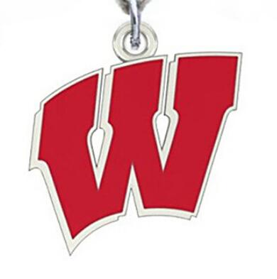 Wholesale Sports Alloy Wisconsin Dangle Charms Pendant For DIY Braceles & Necklace & Earrings & Key chain Jewelry Accessories 20