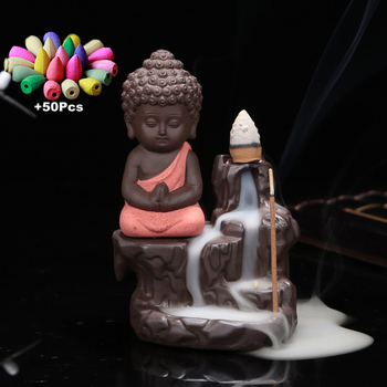 Ceramic Baby Buddha Incense Bundle Pack