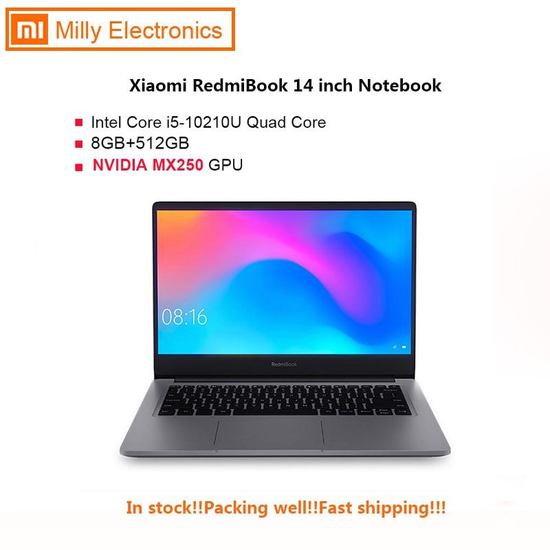 Xiaomi RedmiBook 14 Inch Notebook Windows 10 OS Intel Core I5-10210U 4.2GHz CPU 8GB DDR4 RAM + 512GB SSD Laptop Enhanced Edition