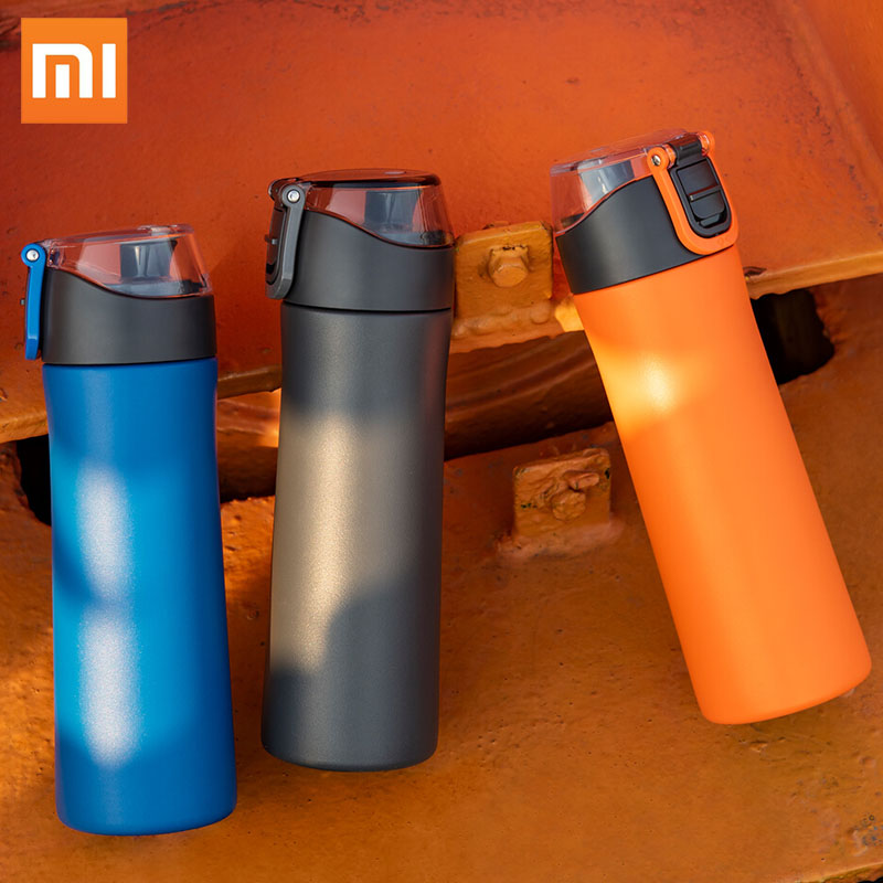 Original Xiaomi Mi Mijia VIOMI Stainless Steel Vacuum 24 Hours Flask Water Smart Bottle Thermos Single Hand ON