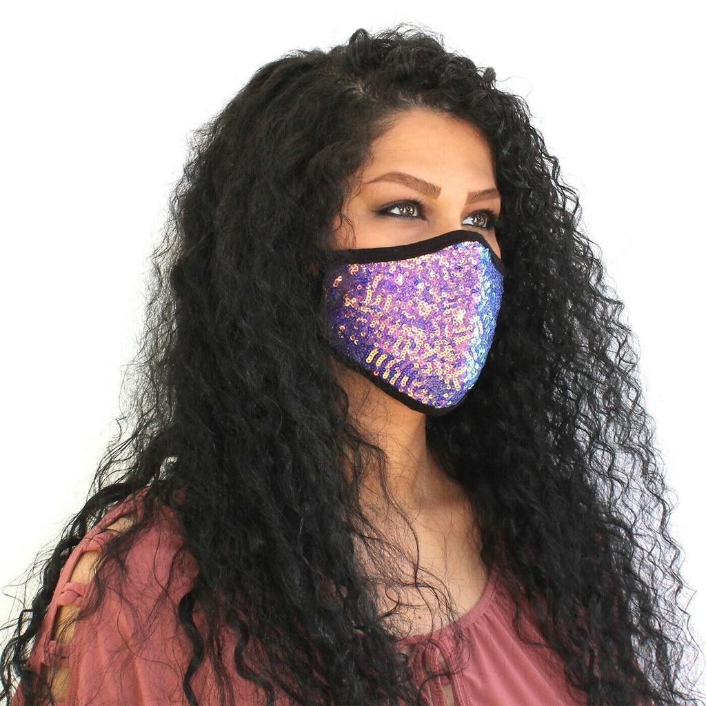 Блестящая Маска для лица с блестками, Модные дышащие маски для рта, маски для улицы, ветрозащитные, пылезащитные маски, многоразовая маска