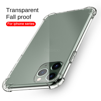 360 Transparent Airbag Case for iphone 11 Cover on the for apple iphone 11 Pro X XR XS Max Se 2020 i phone 6 6S 7 8 Plus funda image