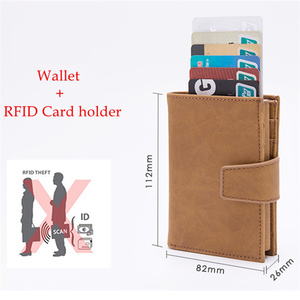 Image 5 - BISI GORO 2019 New Style RFID Card Holder And Minimalist Wallet Metal Men Women Single Box Aluminium Blocking Holder for Cards