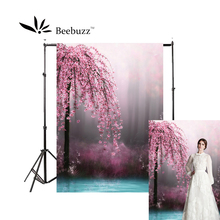 цены Beebuzz photo backdrop pink fantasy peach blossom backgroung studio and family portraits photophone