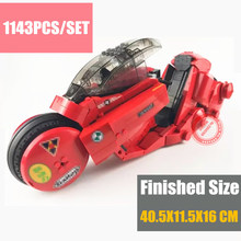 New MOC SERIES The Citizen Akira Moto Fit Legoings Technic City Motocycle Model Building Blocks Bricks Kid Gift Diy Toys Set in stock xingbao 03001 1143pcs creative moc city series the citizen akira moto set building blocks bricks boy toys model gifts
