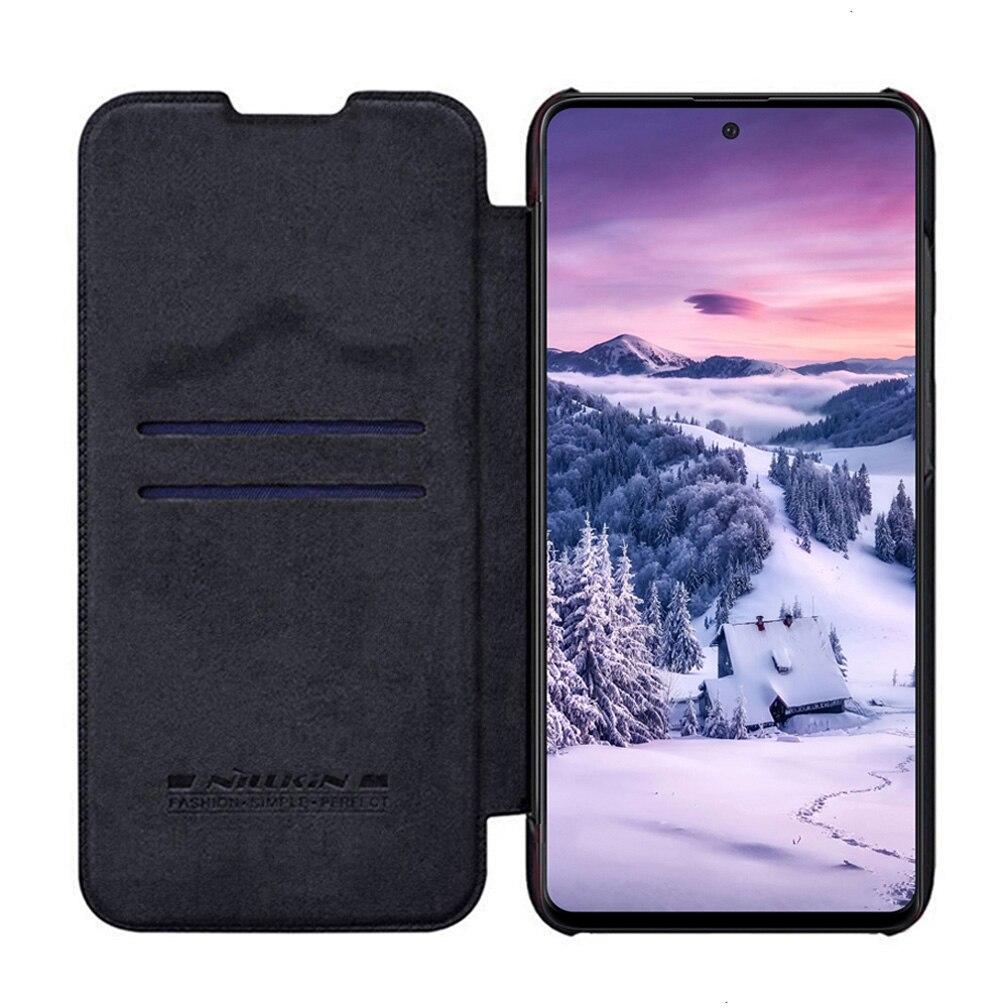 Nillkin – étui en cuir à rabat pour Samsung Galaxy Note 10 Lite, portefeuille avec fente pour cartes, série QIN