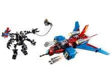 Spiderjet vs venom mech 389 pces blocos de construção conjuntos brinquedos 76150