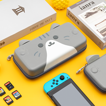 Geekshare Protables Cute Cats Ears For Nintendo Switch Gray Three-dimensional Ears Travel Carrying Case for Nintendo Switch