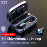 ZEKI 3500mAh True Wireless Earbuds Fone de ouvido sem fio In Ear Sports TWS Bluetooth 5.0 Headphone Touch Binaural Call Headsets