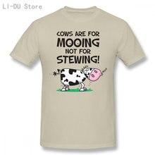 T-Shirt pour hommes, motif vache végétarienne, cadeau Vegan