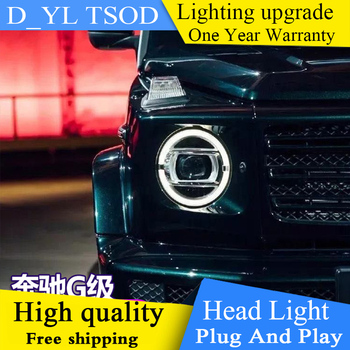 DY_L Car styling Full LED headlights Full LED Head Lamp case for Benz W463 G350/G500/G55/G63 LED bifocal lens