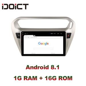 Image 3 - IDOICT אנדרואיד 8.1 רכב נגן DVD GPS ניווט מולטימדיה עבור פיג ו 301 סיטרואן האליזה רדיו 2013 2016 DSP