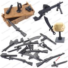Assemble WW2 Military Japanese 38 Gun Weapons Building Block Army Figures Soldier Bayonet Equipment Moc Model Boy Gift Child Toy ww2 japanese army type 98 soldier uniform sets jacket