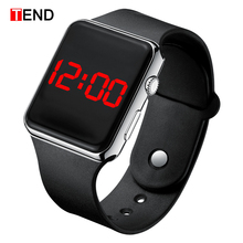 Hot Sale Sport Digital Watch Men Women Watch LED Electronic Watch Men #8217 s Women #8217 s Watches Silicone Band Clock relogio digital cheap TEND 24cm Alloy Leather Deployment Bucket No waterproof Fashion Casual 38mm Glass Back Light LED display luminous Auto Date