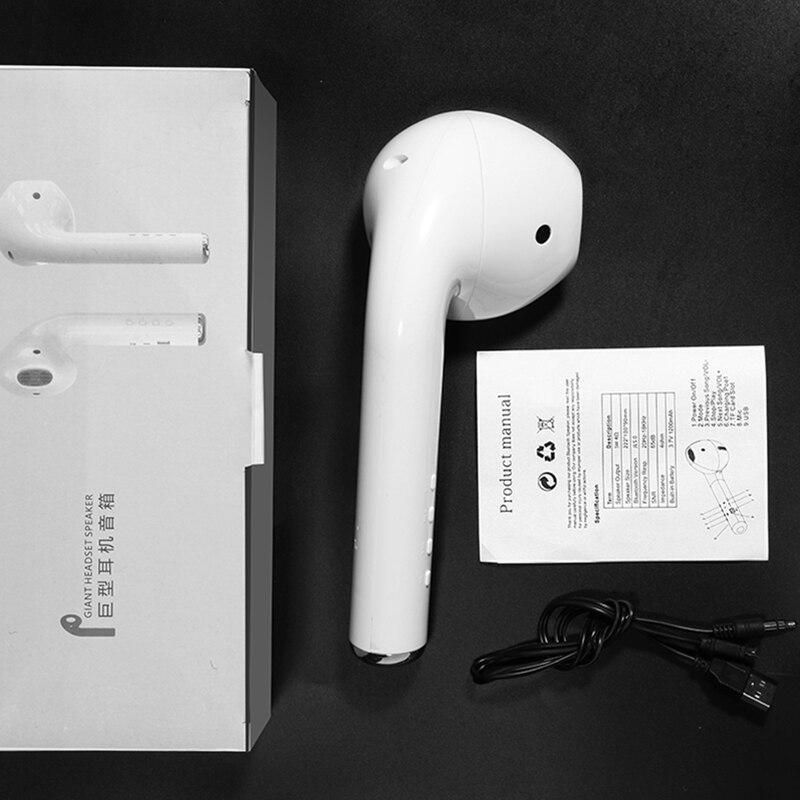 Giant Headset Speaker Bluetooth Earphone Mode Wireless Portable Speaker Music Loudspeaker Support FM Radio Mic TF Card AUX Cable 3