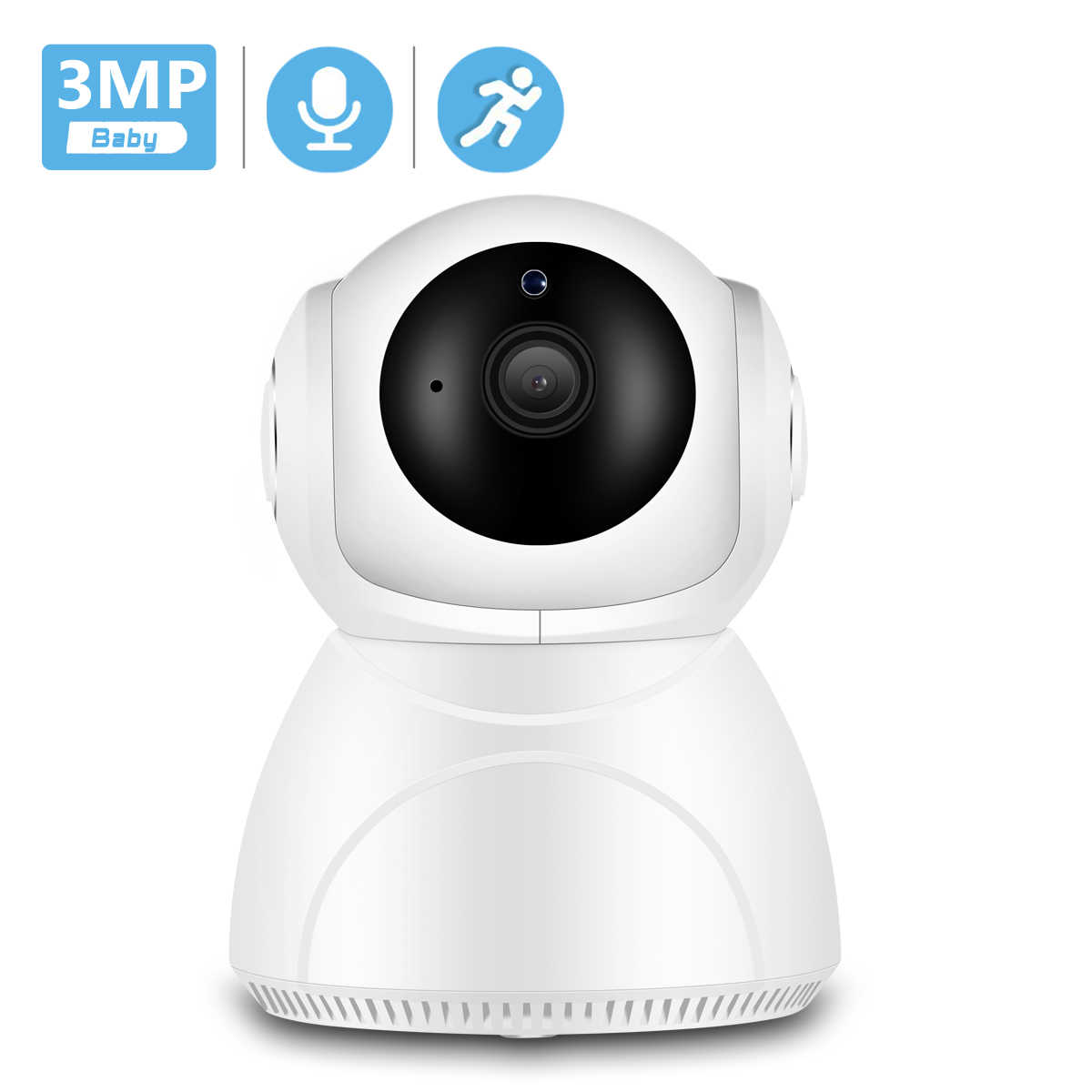 Besder 1080P 3MP Wifi Ip Camera Auto Tracking Ir Nachtzicht Home Security Camera Indoor Mini Audio Babyfoon cctv Camera Ip