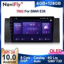 8core 6 + 128G Android10 API29 QLED carplay Radio de coche reproductor Multimedia para BMW 5 E39 E53 X5 1995-2001, 2002, 2003, 2004, 2005, 2006