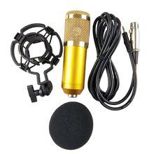 Microphone karaoké à condensateur BM 800, pour KTV, radiodiffusion, chant, ordinateur d'enregistrement
