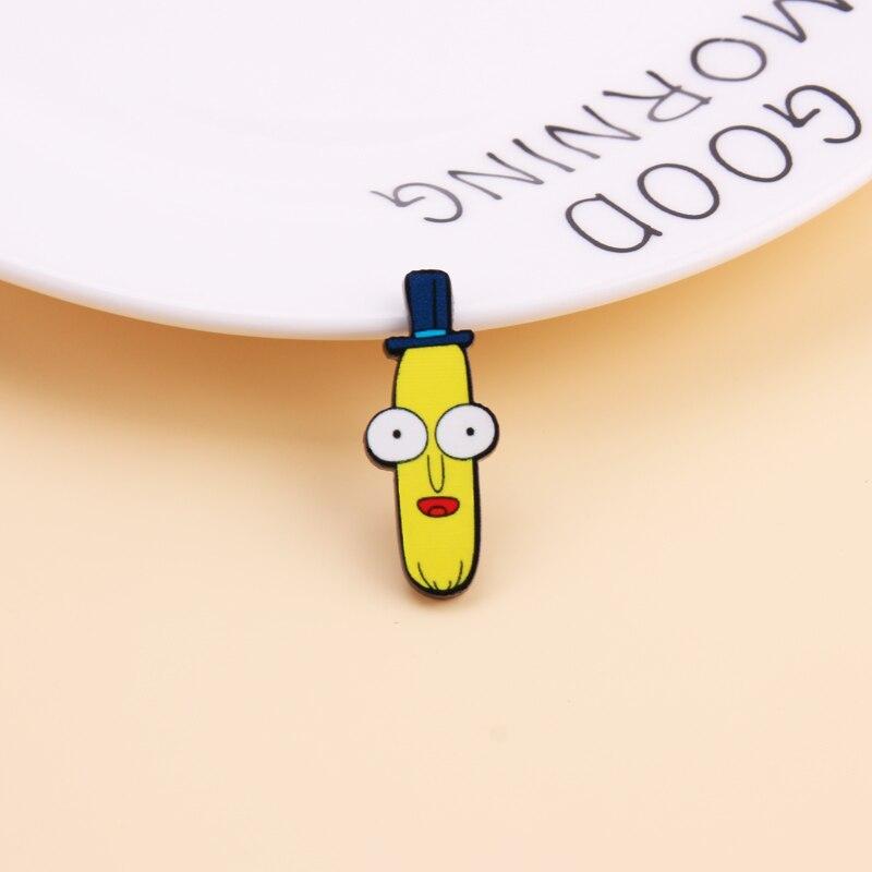 Мультфильм Рик и Морти булавка гений безумный учёный значок пуговицы брошь аниме любителей джинсовая рубашка нагрудные булавки - Окраска металла: 11