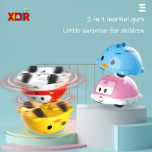 Blind box Twisted Egg Rotating Gyro Car Cute Car Model Mini Capsule Toy Boy Toys For Childrens Toys Gifts(China)