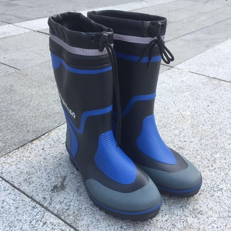 Wading Rubber Waterproof Boots Men Rain Water Shoes Farm River Mud Non Slip Fishing Lightweight Waders 44 45 Big Size 46 Wellies