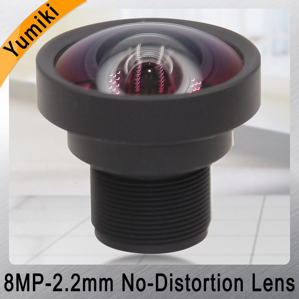 Yumiki 8MP 2.2mm Lens 1/2.5 Inch IR No-Distortion F1.8 M12 Lens For AHD IP Camera Cctv Lens With IR Filter 650nm