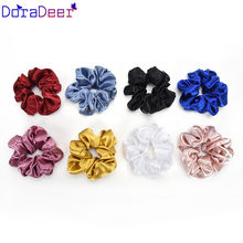 DoraDeer Solid Hair Bands Light Scrunchie Girls Floral Bandanas Kpop Ponytail Holder Hair Band Headbands Hair Accessories Women(China)