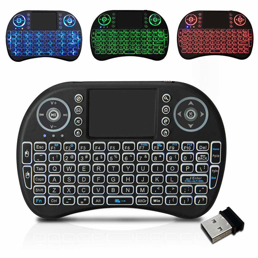 Htrc Keyboard Nirkabel I8 2.4GHz dengan Touchpad Remote Control untuk Android 9.0 TV Box HK1 Max H96 Max X88 pro Fly Air Mouse