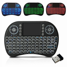 Htrc Draadloze Toetsenbord I8 2.4Ghz Met Touchpad Afstandsbediening Voor Android 9.0 Tv Box HK1 Max H96 Max X88 pro Fly Air Mouse